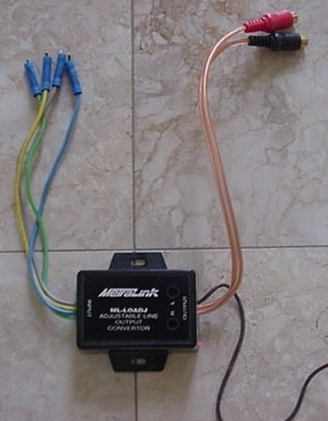 Line output converter wiring, S2000