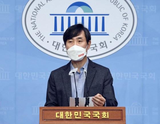 국민의 힘 하 태경 의원.  연합 뉴스