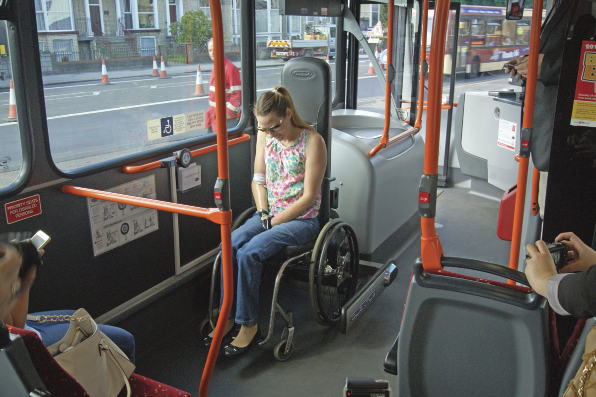 wheelchair grips wicker rattan dining chairs eyms takes quantum leap bus and coach buyer