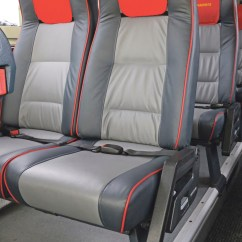 Director Chair Covers Grey Red Gaming Harris Executive Travel Goes For E-leather - Bus & Coach Buyer