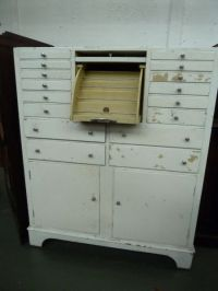 A painted mid century dental cabinet with[Lot 153] - Busby ...