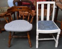 A pine captain's chair with removable seat[Lot 456 ...