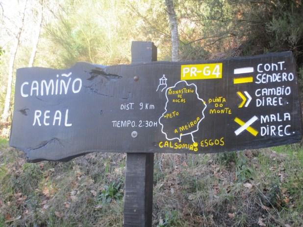 Cartel indicativo del Camino Real