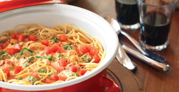 Spaghetti caprese