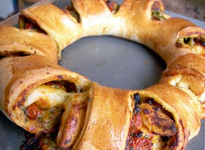 Stromboli con forma de rosca