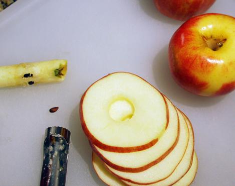 Quitar el centro de las manzanas