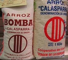 Arroz calasparra y arroz bomba