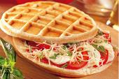 Waffles tomates