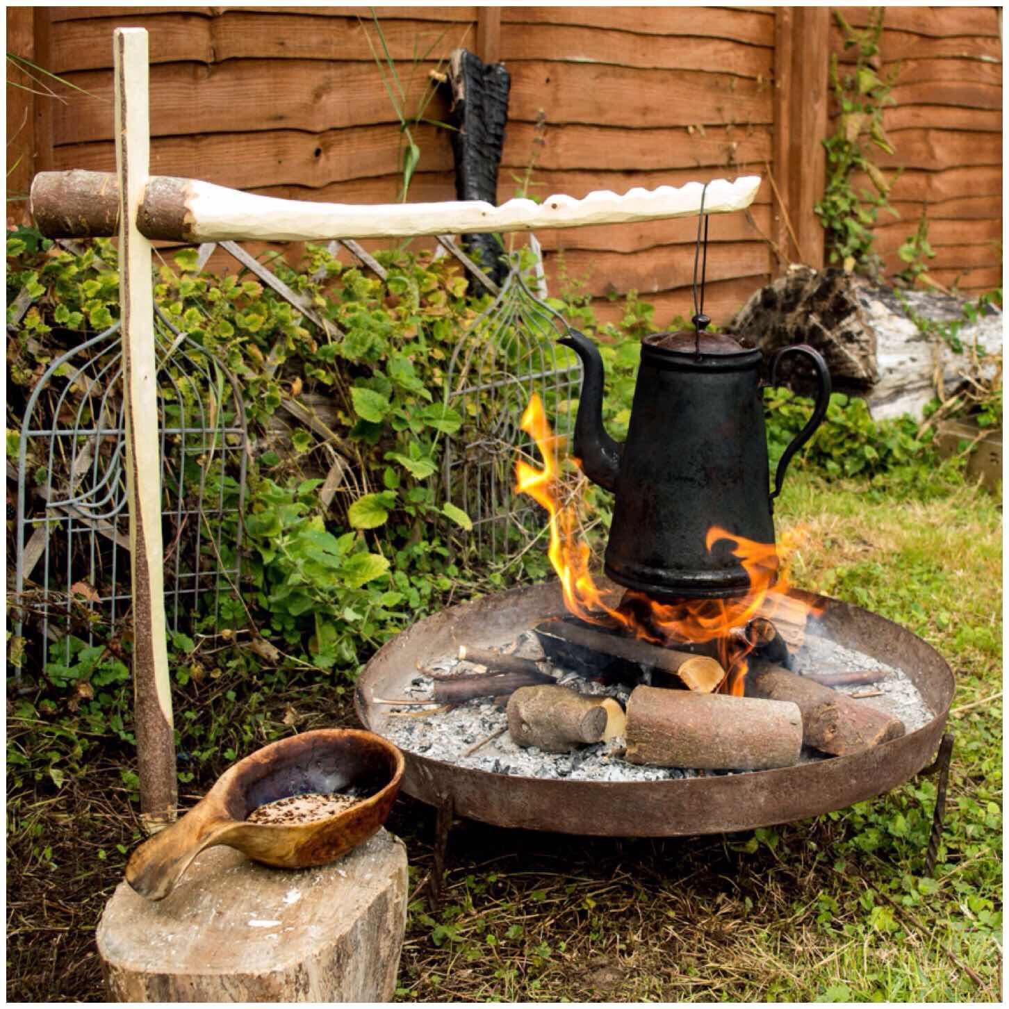 How To Carve a Dovetail Campfire Crane  Bushcraft Days