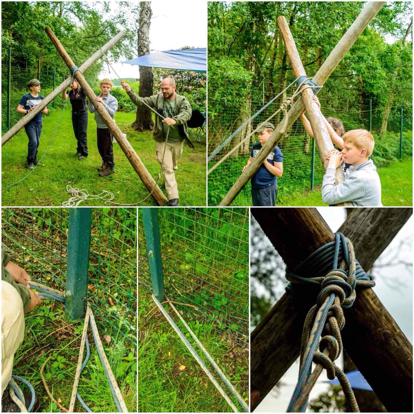 How To Build A Shear Leg Hammock Stand Bushcraft Days