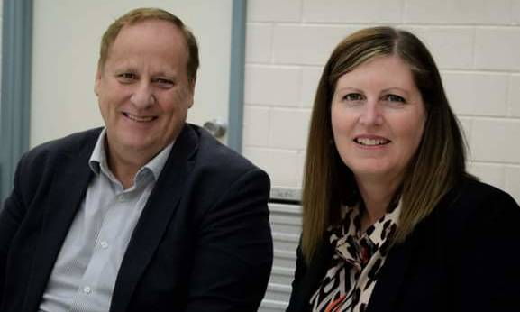 At the Gelorup VBFB NVW 21 Celebrations - MLA for Bunbury Don Punch and MLA for Collie Preston, Jodie Hanns.