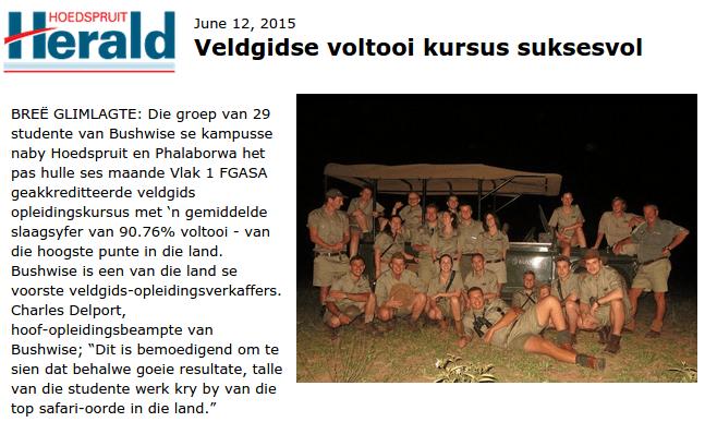 Herald Hoedspruit 2015