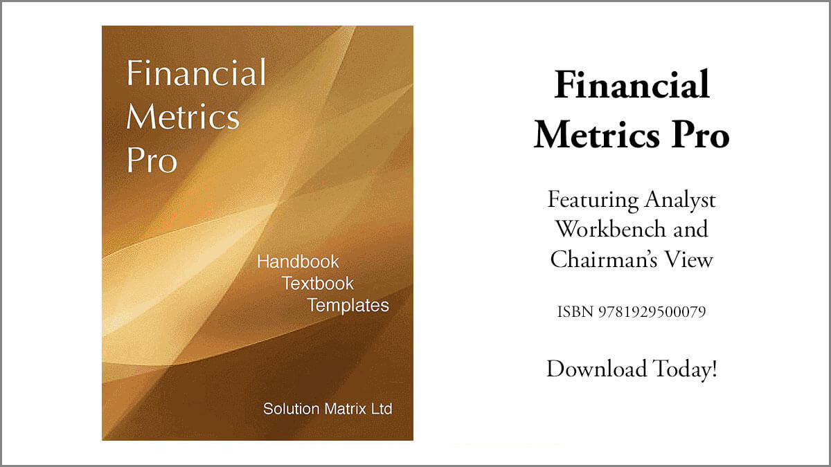 Financial Metrics Pro, Handbook, Tutorial Templates