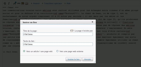avoir un backlink de wikipedia