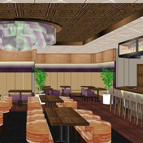 Artist rendering of Mehak India's Aroma, a new Indian restaurant in Denver