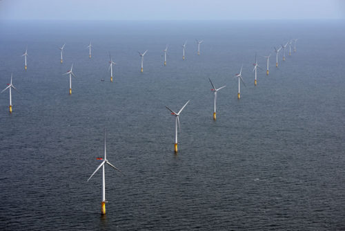 Sheringham Shoal wind farm offshore UK in the North Sea