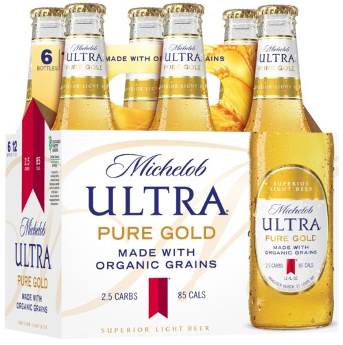 Michelob Ultra Pure Gold organic beer brand