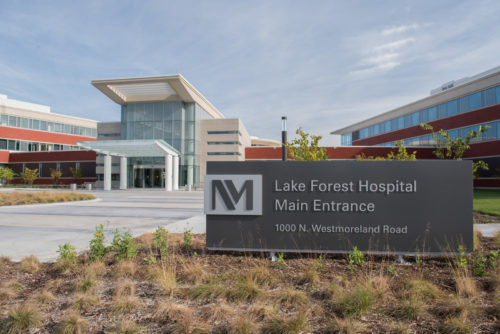 Northwestern Medicine Lake Forest Hospital, a new hospital in Lake Forest that has opened.