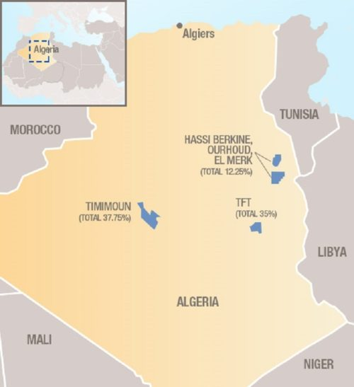 Location of the Timimoun gas project in Algeria.