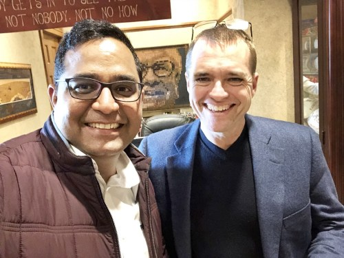 Berkshire Hathaway invests in Indian mobile payment app Paytm - Vijay Shekhar Sharma – Founder and CEO of Paytm (left) and Berkshire Hathaway Investment Manager Todd Combs (right).