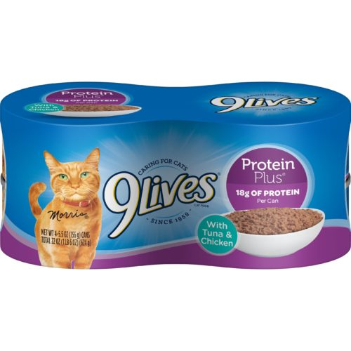 9Lives Protein Plus wet, canned cat food product