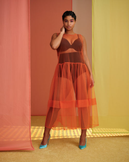 Aiyana Lewis in Maidenform Magic Slimming shapewear. Photo courtesy of Refinery29.