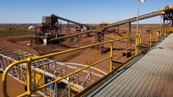 Ore processing facility at the Iron Bridge Magnetite Project in Western Australia.