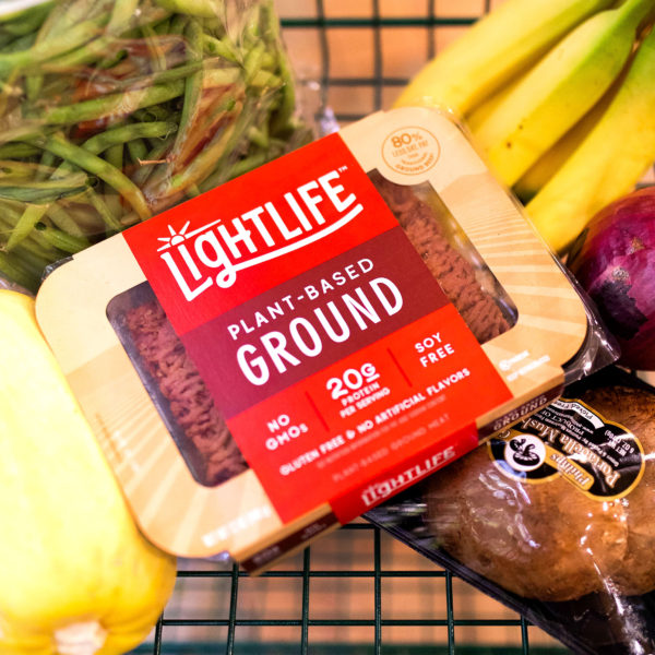The new plant-based burger and ground from Lightlife Foods will be available in the US and Canada