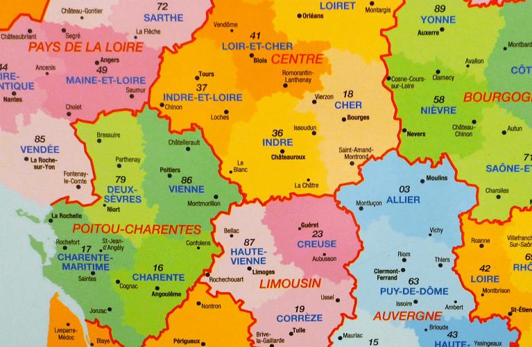 liste excel départements français