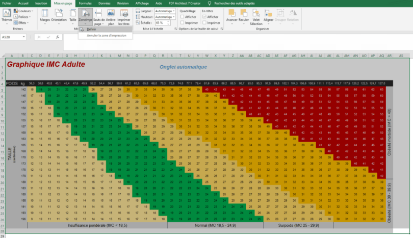 Définir zone d'impression Excel