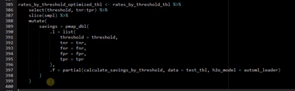 Chapter 8: Threshold Optimization With purrr