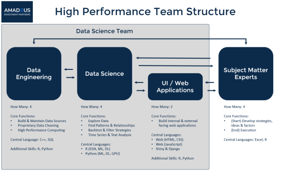 Data Science Team Structure, Designed For High Performance
