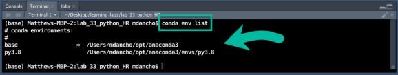 Conda List Terminal