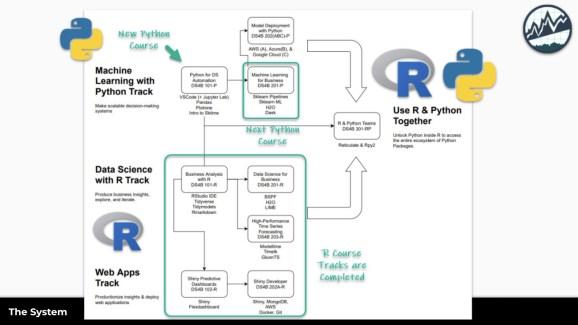 R Python Tracks