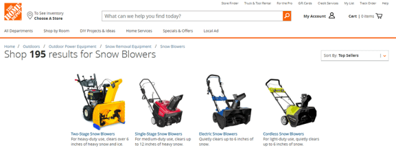 Home Depot Snow Blower