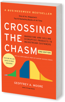 Bookcover Crossing the Chasm Marketing and Selling Disruptive Products to Mainstream Customers