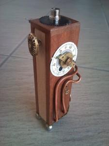 steampunk wood e cig mod