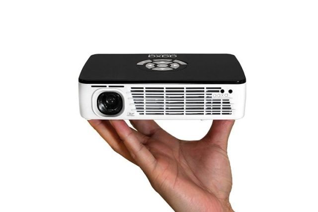 AAXA P300 PICO/Micro LED Projector with 60 Minute Battery Life, WXGA 1280 X 800 Resolution, 400 Lumens, HDMI, Mini-VGA, 20,000 Hour LED Life, Media Player