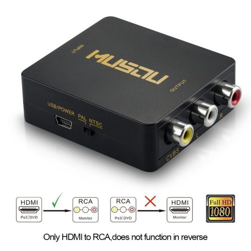 The MUSOU AV - HDMI to RCA Converter