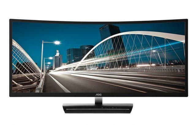 "AOC C3583FQ 35"" VA Curved LED Monitor 2560 x 1080 Res, 21:9,160hz, 300 cd/m2, 4ms,VGA/DVI/(2) HDMI/(2) DP, Spk - Touch Screen Monitor"