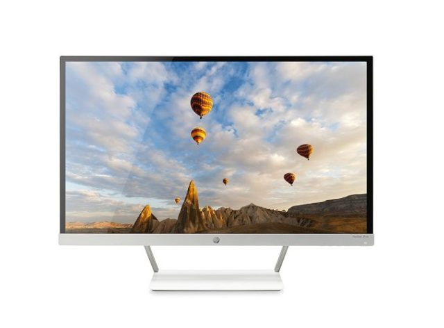 HP Pavilion 27-inch FHD IPS Monitor with LED Backlight (27xw, Snow White, and Natural Silver) - Touch Screen Monitor