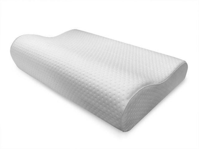 Sensorpedic Luxury Extraordinaire Contour Memory Foam Neck Pillow with Ventilated Icool Technology, Jumbo Size, White -
