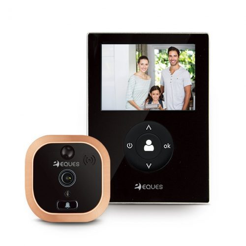 VEIU Mini by Eques - Smart Video Doorbell &amp - Rechargeable and Easy Installation- Wireless Doorbells