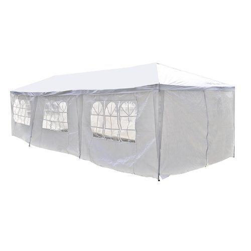ALEKO 30 x 10 Feet Gazebo Canopy for Outdoor Picnic Party Tent, White Gazebo - Party Tents