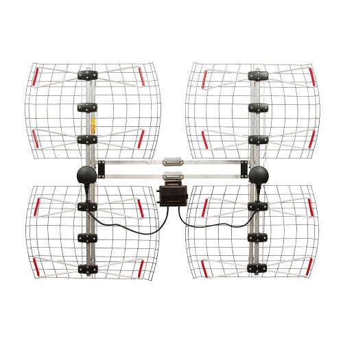 Element Bowtie Indoor/Outdoor HDTV Antenna – 70 Mile Range - long range outdoor HDTV antenna