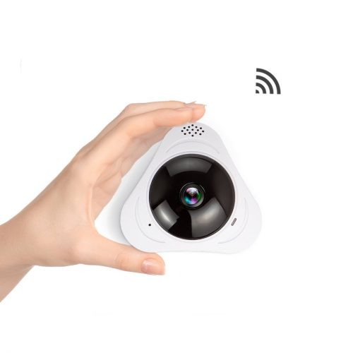 FREDI 960P Fisheye IP Camera Infrared 360° Panoramic Wireless Mini Portable Indoor Cam with IR Night Vision /2-way Audio/ Motion Detection Loop recording - Portable Mini IP Cameras