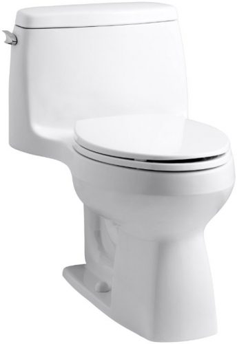 KOHLER 3810-0 Santa Rosa Comfort Height Elongated 1.28 GPF Toilets - one piece toilets