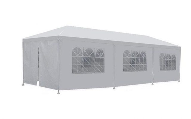 New 10'x30' White Outdoor Gazebo Canopy Party Wedding Tent Removable Walls - Party Tents