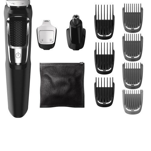 Philips Norelco Multigroom All-In-One Series 3000, 13 attachment trimmer, MG3750 - Men Body Hair Trimmer