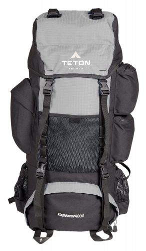 TETON Sports Explorer 4000 Internal Frame Backpack; Great Backpacking Gear; Backpack for Men and Women; Hiking Backpacks for Camping and Hunting; with a New Limited Edition Color; Free Rain Cover Included - External frame pack